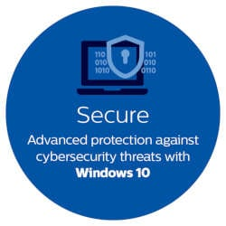 Secure advanced protection against cybersecurity threats with windows 10