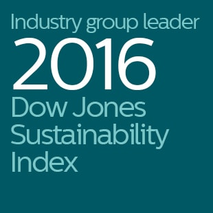Industry group leader 2016 Dow Jones Sustainability Index